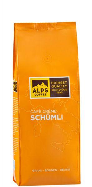 Schreyögg Alps Coffee Kaffee Creme Schümli   500g Bohne   Vollautomaten