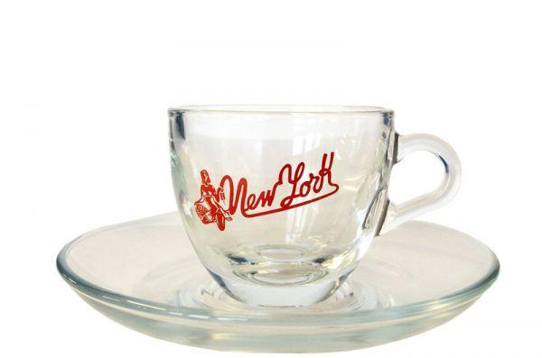 New York Kaffee Espresso-Tasse aus Glas