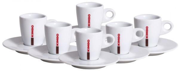 6 x Kimbo Espressotasse