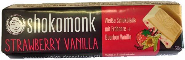 Shokomonk - Weiße Schokolade mit Erdbeere und Bourbon Vanille
