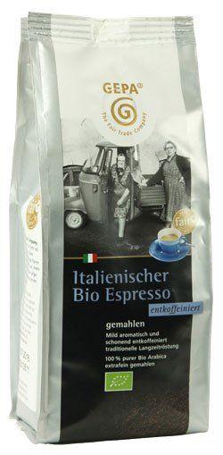 GEPA italienischer Bio Espresso Siebträgermahlung