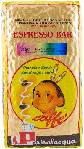 Passalacqua Espresso Kaffee ohne Koffein   De Up   1000g Bohne