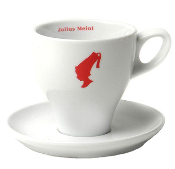 Julius Meinl Milchkaffee-Tasse weiß
