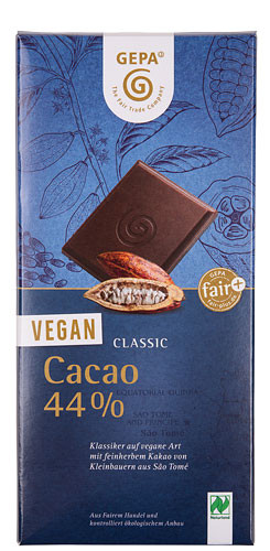 Gepa Schokolade Bio vegan 44% Cacao