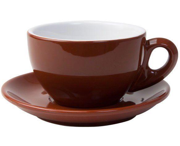 Milchkaffeetasse ROM, braun