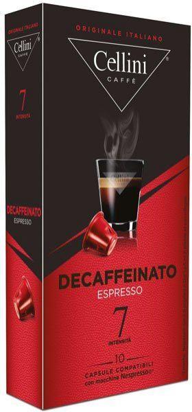 Cellini Nespresso kompatible Kapseln ohne Koffein - Entkoffeiniert