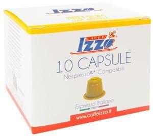 10 Izzo Arabica Premium Espresso Nespresso®* Kapseln Alternative