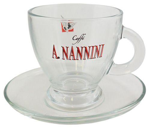 Nannini Cappuccinotass aus Glas