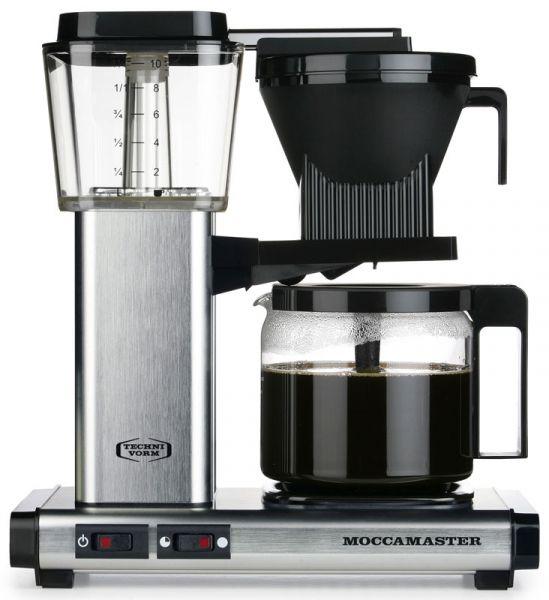 Moccamaster Filterkaffeemaschine gebürstet