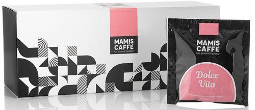 Mamis Caffe Espresso ESE Pad Dolce Vita - 15 Pads im Dispenser