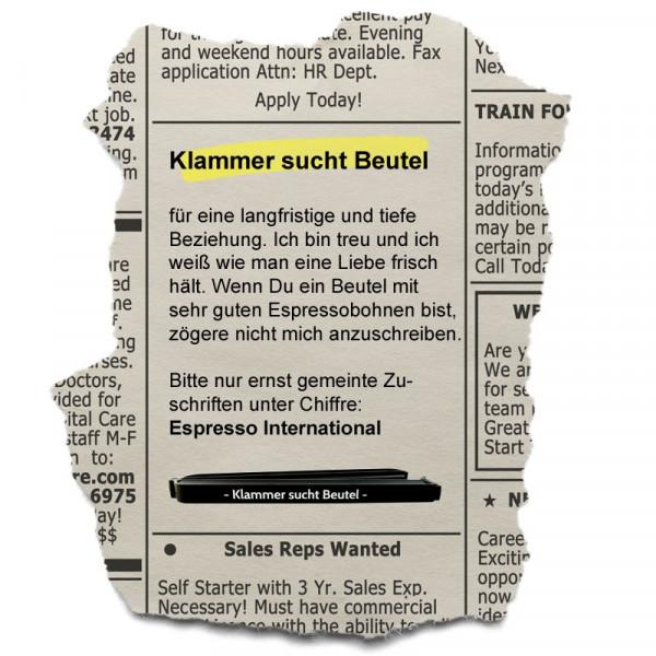 Verschluss für Ihren Kaffeebeutel