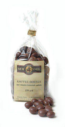 Caffe New York Echte Kaffeebohnen in Vollmilchschokolade