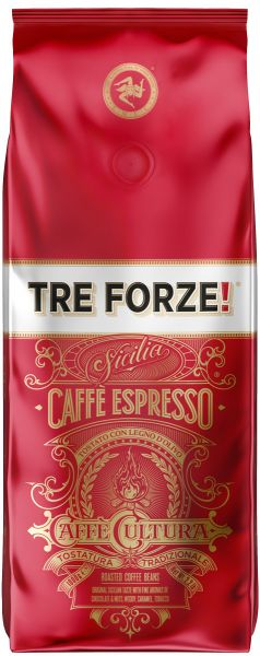 TRE FORZE! Espresso Kaffee 1kg Caffè Cultura
