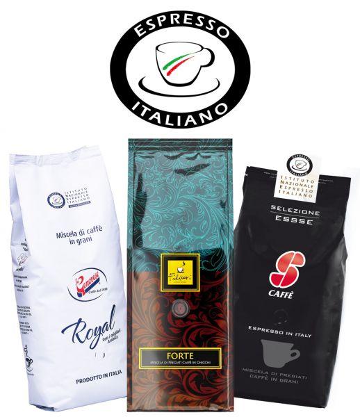 Espresso Italiano Probierset   La Genovese, Filicori Zecchini, Essse Caffè