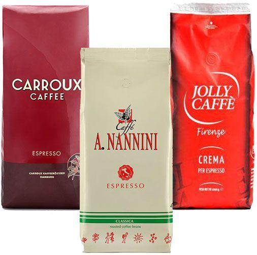 Probierset - Jolly, Carroux, Nannini - 1,5kg Kaffee