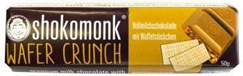 Shokomonk - Vollmilchschokolade mit Wafer Crunch 50g