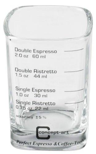 Messglas für Espresso und Ristretto