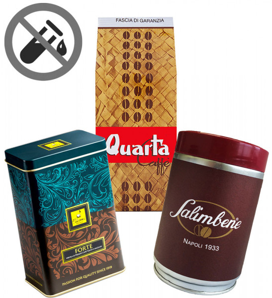 Probierset Säurearme Espressokaffees gemahlen