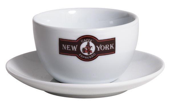Caffé New York Milchkaffee Tasse, weiß
