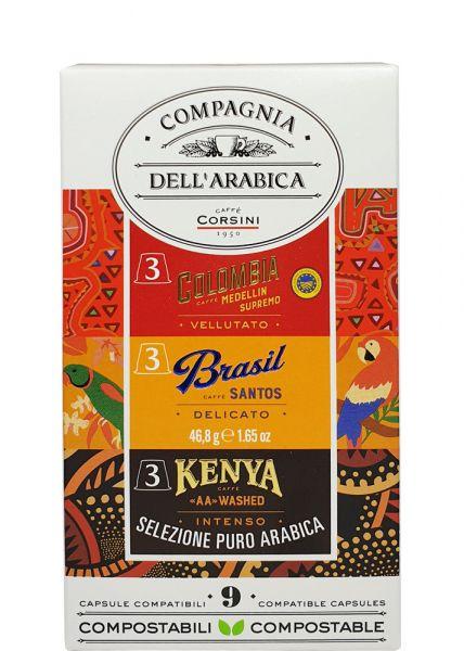 9 Compagnia dell'Arabica Nespresso®* Kapseln Selezione